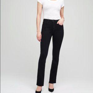 "L'Agence Oriana High Rise Straight Noir Jeans 28"""